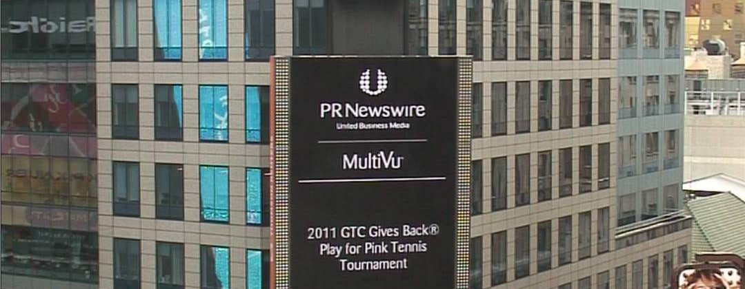 GTC Gives Back 2011 Chairpersons Bigger Than Life in Times Square!